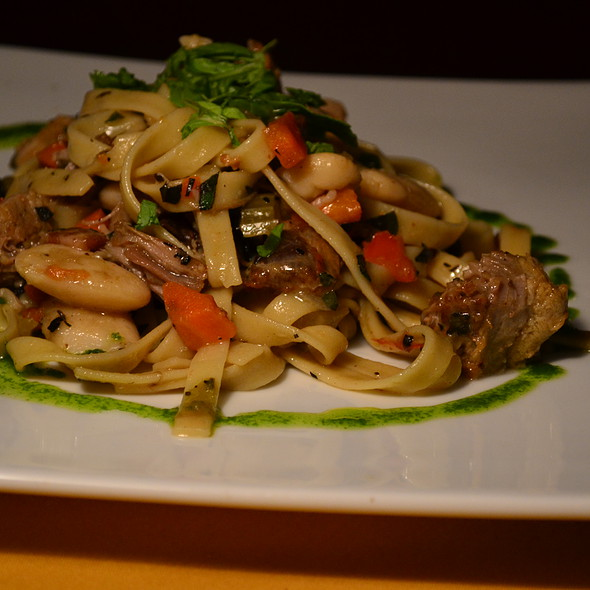 Slow Braised Pork Fettucini - Bistro Roca and Antlers Bar, Blowing Rock, NC